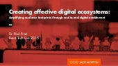 Creating Effective Digital Ecosystems