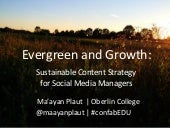 Evergreen and Growth: Sustainable Content Strategy for Social Media Managers