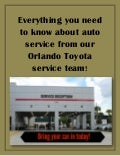 Everything you need to know about auto service from our Orlando Toyota service team