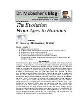 Evolution from apes to humans, s. m...