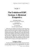 Evolution of erp systems