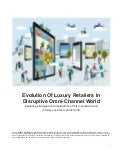 Evolution of luxury retailers in disruptive Omni-channel world
