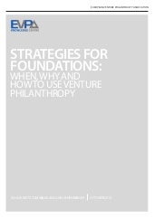 Strategies for Foundations: When, W...