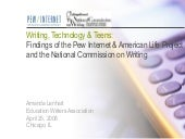 Writing, Technology & Teens: The Fi...