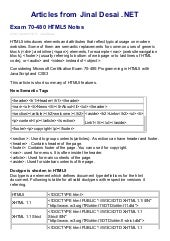 Exam 70-480 HTML5 Notes at Jinal De...