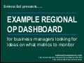 Example regional operating dashboard