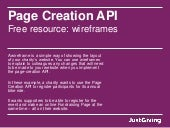 Page creation API - Example wireframes