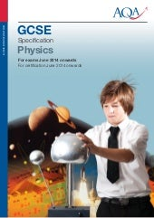 AQA GCSE Physics Exam Specification