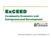 ExCeed Community Economic And Entre...