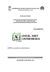 Excel 2007 intermedio final