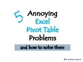 5 Annoying Excel Pivot Table Problems
