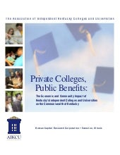 Private Colleges, Public Benefits -...