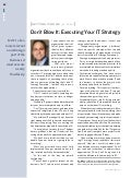 Executing Your IT Strategy
