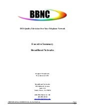 BBNC Executive summary