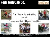 Exhibitor marketing and sponsorship...