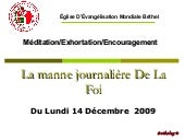 Exhortation Du 14 DeC09