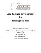 ASU SBTDC Pre Loan Application Pack...