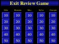 Exit test Review Game