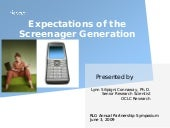 Expectations Of The Screenager Gene...