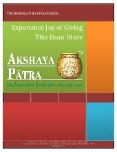 Experience Joy of Giving This Daan Utsav