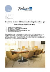 Experience Meeting at Radisson Blu