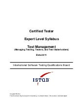 Expert tm syllabus beta version 041511