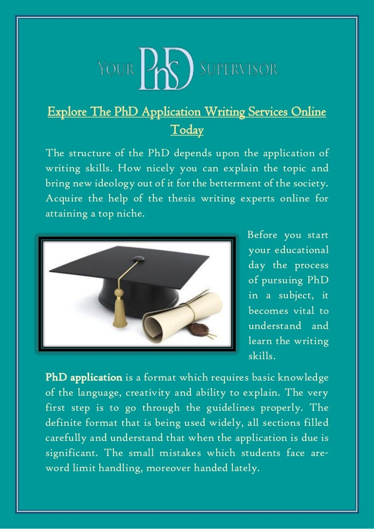 explore the phd application writing services online today