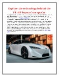 Explore the technology behind the FT-HS Toyota concept car