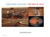 EXPLORING ON MARS - THE RED PLANET