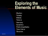 Exploring the elements of music