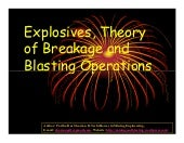Explosives, Theory Of Breakage And ...