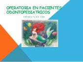 Expo odontopediatria power point