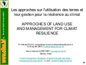 APPROACHES OF LAND USE  AND MANAGEM...