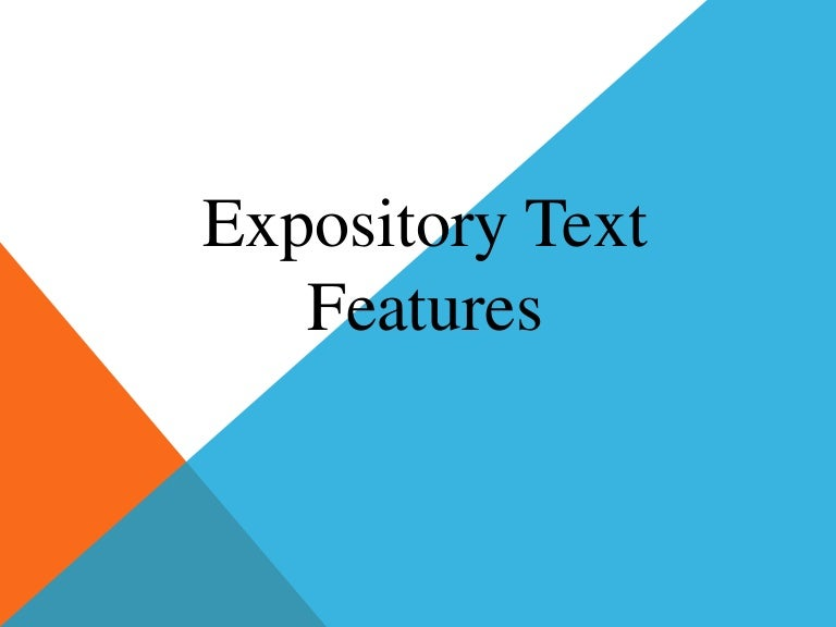 Worksheets Expository Text Features expository text features