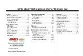 2012 Chevy Express Owner's Manual B...