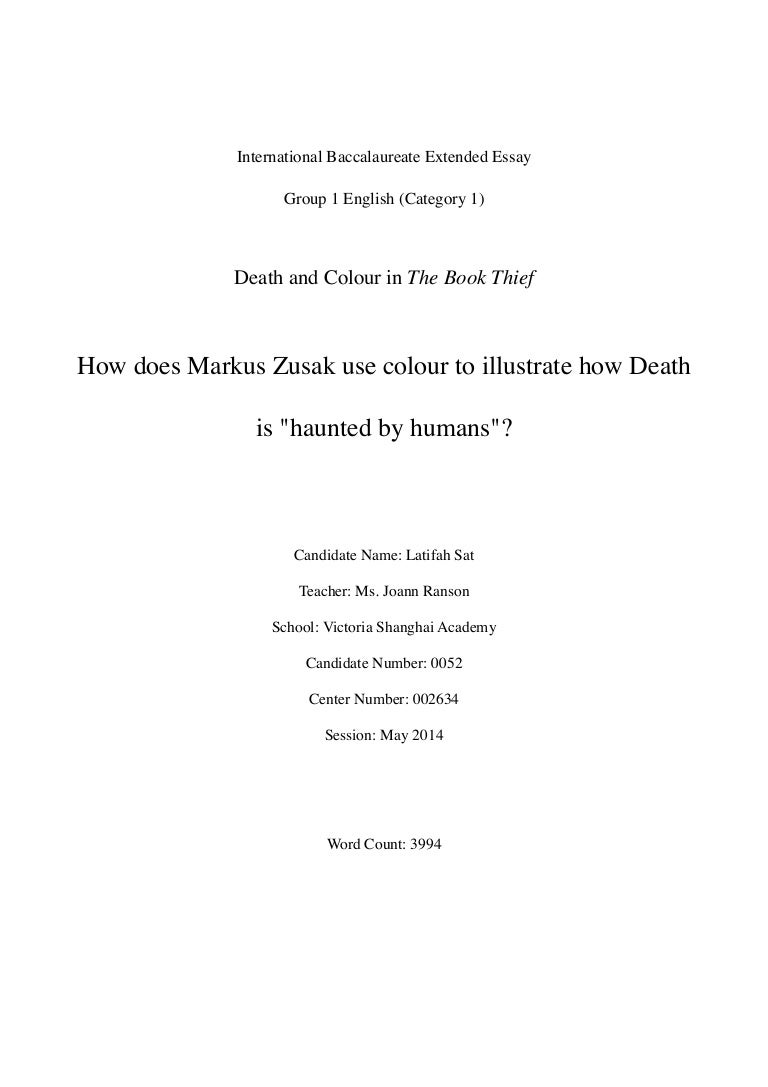 how does markus zusak use colour to illustrate how death is quothaunted …