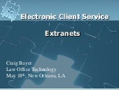 Extranets Presenatation For Ala