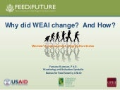 Why did the WEAI change? And how?