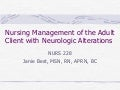 NurseReview.Org - Nursing Management of the Adult Client with Neurologic Alterations