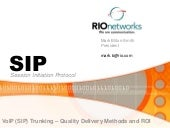 SIP dilivery methods and ROI