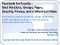 Facebook for Faculty