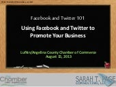 Facebook and Twitter for Business 101