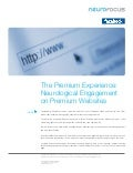 Facebook / Neurofocus whitepaper: consumer engagement on premium web sites