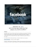 Facebook q4 2012 earnings call