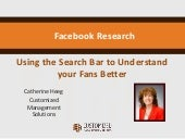 Facebook Research - Search Questions to Understand your Audience