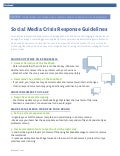 Facebook Social Media Crisis Guidelines