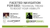 Faceted navigation webinar