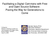 Facilitating a Digital Commons with...