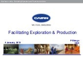 Facilitating Exploration and Production Activities in india