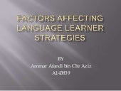 Factors affecting language learner ...